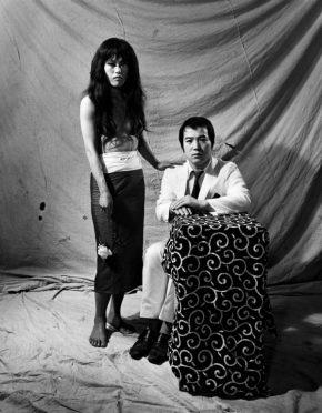 《ポートレート 唐十郎と李礼仙》 1969, Portrait, Kara Juro and Lee Reisen ©高知県,石元泰博フォトセンター