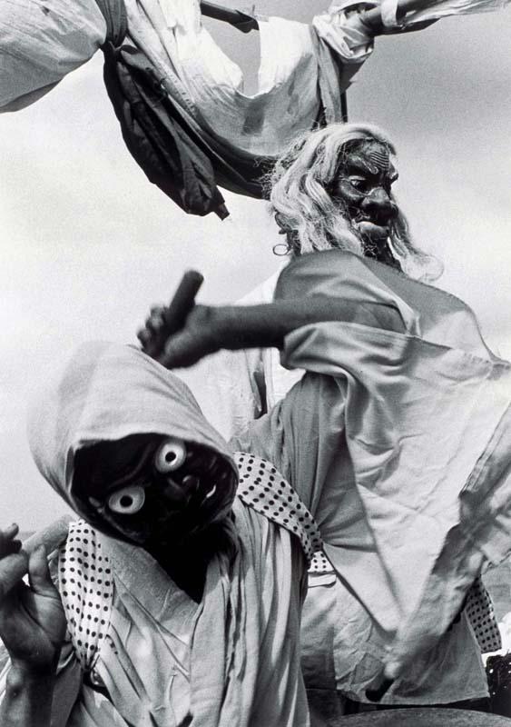《御陣乗太鼓(輪島)》  1963年頃 ©高知県,石元泰博フォトセンター